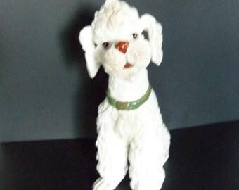 Vintage POODLE - Large White Poodle Figurine - Statue