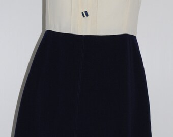 Vintage 60s bicolor dress Size 38 FR