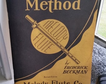 1952 Classroom Method Melody Flute Lesson Book