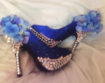 Blue Princess Heels