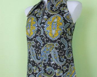 Vintage Maxi Dress 1970s Paisley print