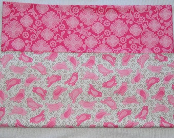Pink Bird Pillow Case