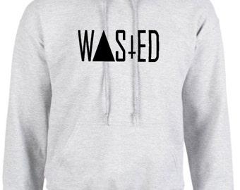 Wasted mens hoodie