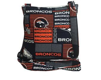 Denver Broncos Crossbody Bag // Sling Bag // Crossbody Purse // Shoulder Bag // Hipster // NFL