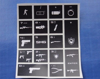 Keybind sticker pack Num lock stickers for binds CS GO Counter Strike Fast Buy