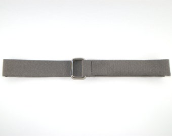 Belt fabric grey chevrons, belt for man,  silver buckles, belt grey, accessory man, gift, present for him, marriage, present witness