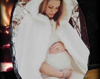 Oval Custom Photo Slate