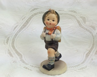 Hummel School Boy, Boy with Knapsack, Hummel Figurines, Collectible Hummels, Boy Hummel Figures, 5 inch Hummel, five inch hummel