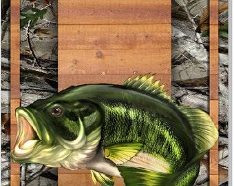 Bass Wood Planks Camo Cornhole Wrap Bag Toss Decal Baggo Skin Sticker Wraps
