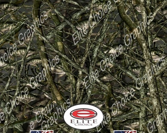 """Crappie Fish 15""""x52"""" or 24""""x52"""" Truck/Pattern Print Tree Real Camouflage Sticker Roll or Sheet"""