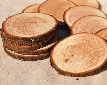 25 Douglass Fir Slices 5 - 7 cm, 2 - 3 Inch Wood Slices, Rustic Wood Slices, Small Wood Slices for Rustic Wedding, Wood Slice Rustic Decor,