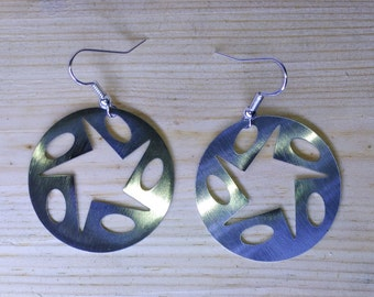 Hoop Earrings Star Design and ellipses