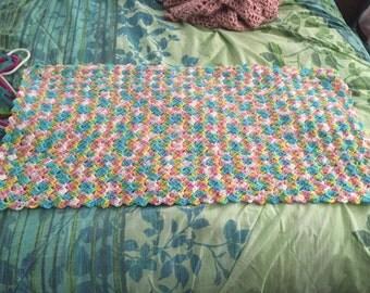 Newborn/Stroller Crochet Baby Blanket READY MADE