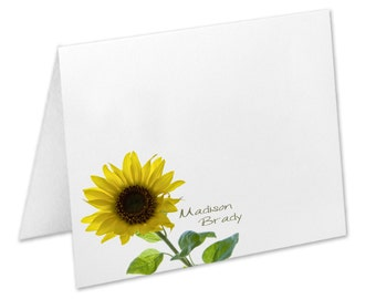 Sunflower Note Cards, Sunflower Personalized Stationery, Stationery Set, Sunflower Notecards, Christmas, Birthday, Stationary Set, Custom
