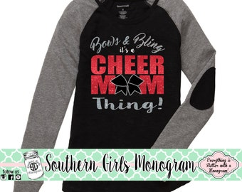 Custom Elbow Patch CHEER MOM Shirt