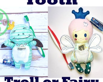 Tooth Fairy or Tooth Troll- Free USA Shipping