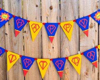 Superman Birthday Banner, Superhero Birthday Banner, Superman Banner, Superhero Banner, Boy Birthday Party, Boy Superhero Party, Superman
