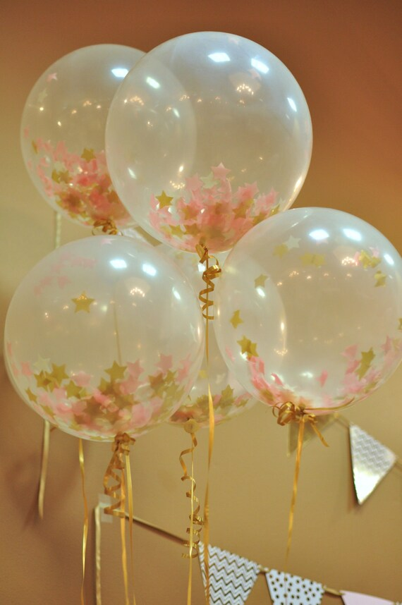 STAR Confetti Balloons Twinkle Little Star Birthday