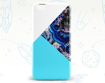 6 iPhone Case Phone Case iPhone 6s iPhone Case 6s Plus Phone Case 6 Plus iPhone 5 Case 5s Phone Case Marble Blue White Geometry Color Case