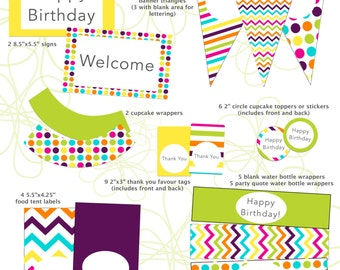Janet Printable Party Package