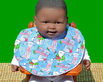 Christmas bib - Christmas clothing - Baby bib - Baby's 1st Christmas - Baby gifts - Baby shower gifts - Baby Christmas gift - Cat bib