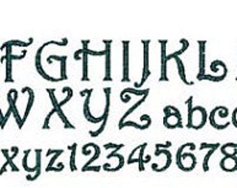 Monogram Curly Q Font