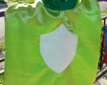 Reversible Orange and Lime Green Cape