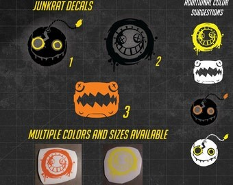 Overwatch Junkrat Vinyl Decal  - sticker - Multiple sizes and over 60 colors to choose from