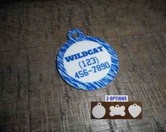 Pet Tags Personalized - Kentucky Wildcats Design/ UK / Pet Tags / Dog Tags / Cat Tags / Dog ID Tags / Cat ID Tags / Pet Id Tags