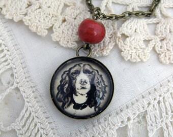 Springer Spaniel dog pendant necklace
