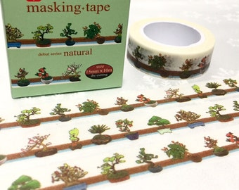 small plant washi tape 10M x 1.5 CM Succulent plant cute plant potted plant Masking tape plant diary green gardening planner sticker decor