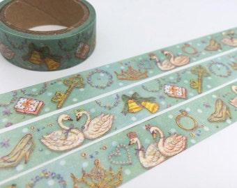 swan washi tape 5M swan lover swan lake fairy tale animal masking tape Royal Swan sticker tape fall in love gift wrapping tape gift decor