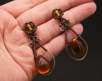 "Earrings ""Gout de Bronze"""