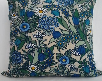 "Vintage 1970's, 'Flower Waltz' by Pat Albeck. 16"" x 16"" Pillow/ Cushion Cover"