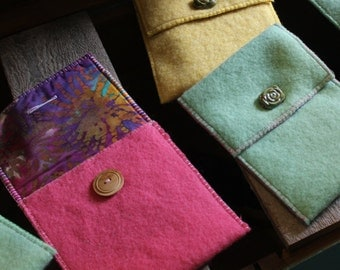 Pink Hand Made Vintage Wool iPad Case