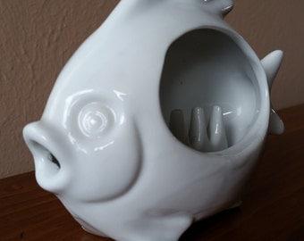 Vintage Otagiri Smoking Fish Porcelain Ashtray