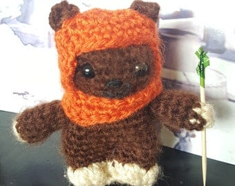 Crochet Wicket the Ewok Star Wars plush toy / amugurumi