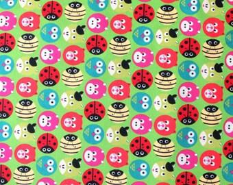 Animal fabric - Quilting fabric - Patchwork fabric - Green fabric - Kids fabric - Childrens fabric - 100% cotton fabric - Dressmaking
