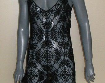 Crochet Beach Cover Up Dress