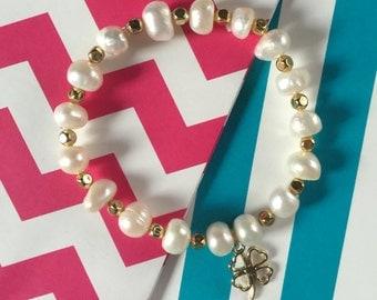 Super Cheap!!!! Pearl Charm Bracelet