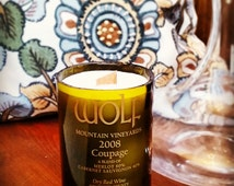 Wine Bottle Candle - Wolf Mountain Vineyards and Winery - Coupage - 2008