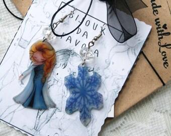 FROZEN Earrings, ELSA orecchini, Bijoux da Favola, Fairy Jewellery