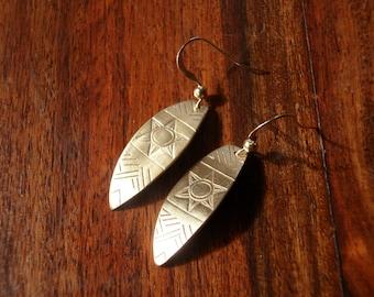 Aztèques earrings handmade in bronze
