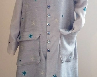 Frozen Coat Princess Elsa Winter Reine des Neiges size 128 (8 years old)