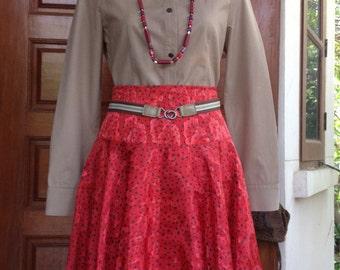 50's half circle Vintage skirt