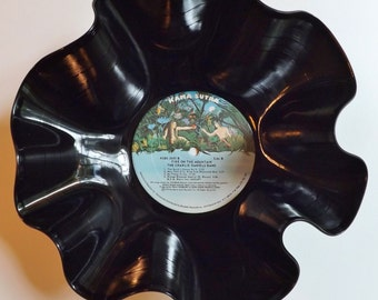 Charlie Daniels Record Bowl melted vinyl Fire on the mountain 1974 vintage