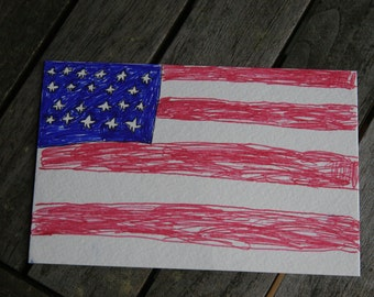 Flag Postcard - Proceeds go to an Animal Shelter!