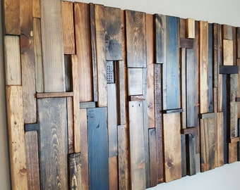 Wood Wall Art Sculpture