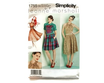 2000 Sewing Pattern - Simplicity 1755 - Leanne Marshall Dress
