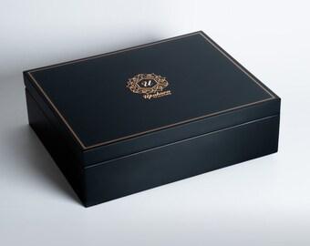 Beaumonté Black Rakhi Gift Box - Highline